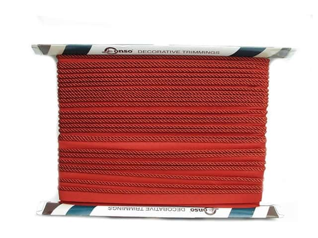 Conso Princess Cord with Lip 3/16 in. x 24 yd. Chinese Red