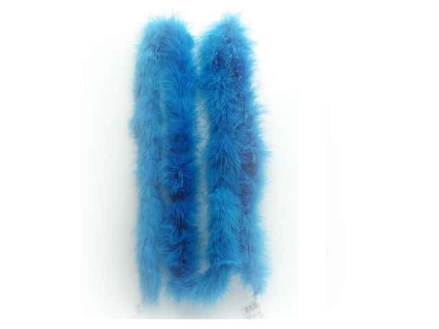 Zucker Feather Boa Marabou 2 yd Medium Weight Dark Turquoise