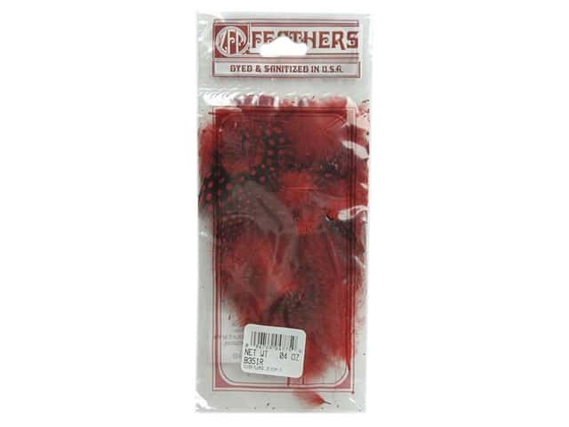 Zucker Feather Guinea Plumage Feathers .04 oz. Red