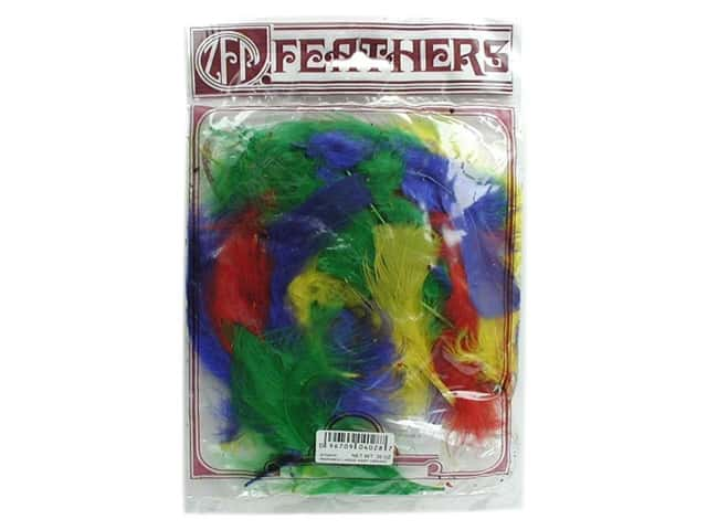 Zucker Feather Turkey Marabou Feathers 1/4 oz. Large Vibrant Mix