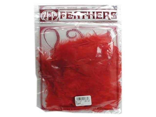 Zucker Feather Turkey Marabou Feathers 1/4 oz. Large Red