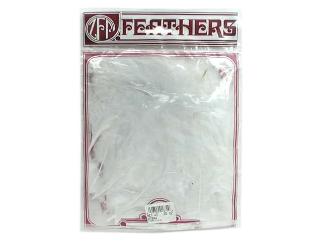 Zucker Feather Turkey Marabou Large .25 oz White