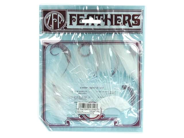 Zucker Feather Hackle 1/2 Plate White
