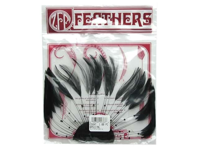 Zucker Feather Hackle 1/2 Plate Black