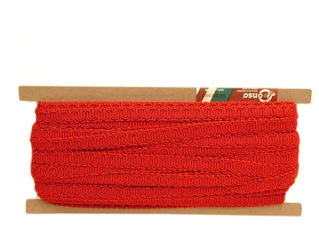Conso Princess Scroll Gimp 1/2 in. x 36 yd. Chinese Red (36 yards)