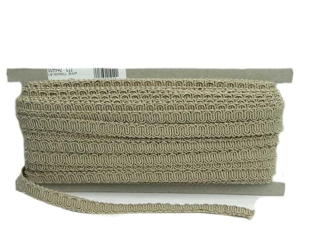 Conso Princess Scroll Gimp 1/2 in. x 36 yd. Sandstone (36 yards)