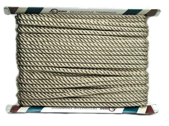 Conso Princess Twisted Cord 3/8 in. Sand (24 yards)