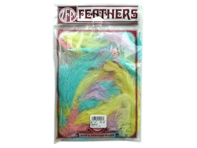 Zucker Feather Turkey Marabou Feathers 1/4 oz. Large Pastel Mix