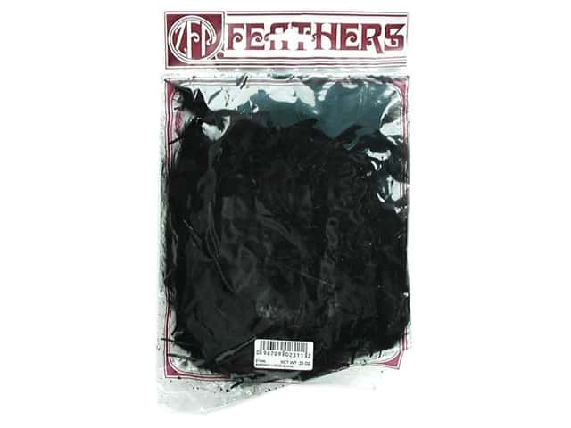 Zucker Feather Turkey Marabou Feathers 1/4 oz. Large Black