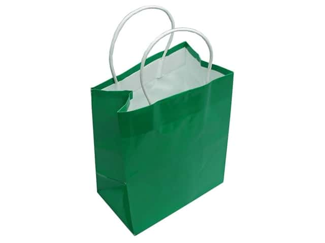 Medium Gift Bag by Cindus Clay Coat Emerald Green