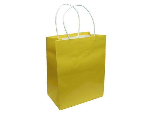 Medium Gift Bag by Cindus Clay Coat Canary Yellow