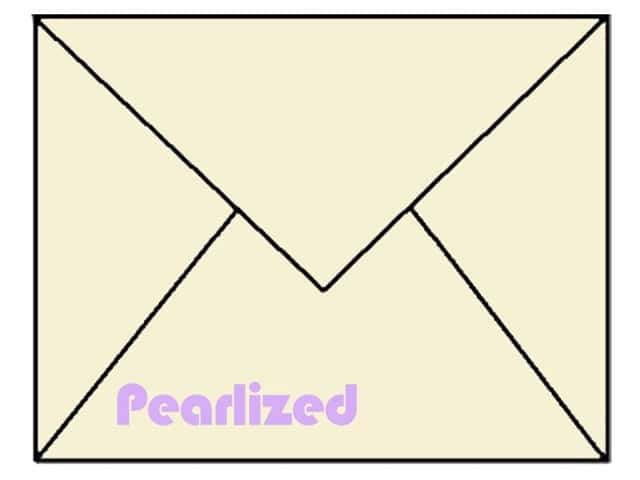 4 1/4 x 5 1/2 in. Envelopes by Paper Accents 25 pc. #884 Pearlized Cream