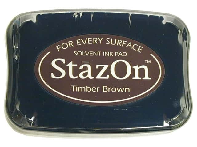 Tsukineko StazOn Large Solvent Ink Stamp Pad Timber Brown