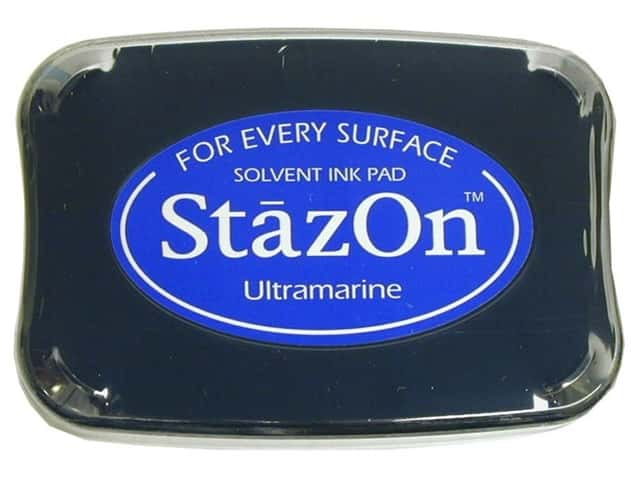 Tsukineko StazOn Large Solvent Ink Stamp Pad Ultramarine