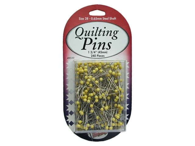 Sullivans Quilt Shop Quilting Pins Size 28 240 pc. Yellow