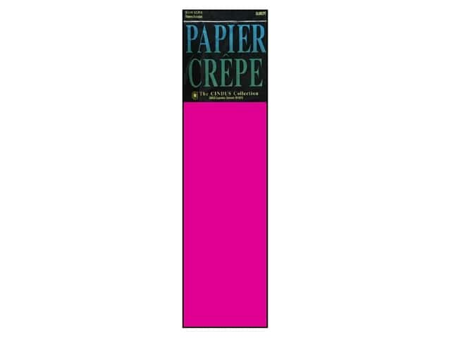 Crepe Paper Folds by Cindus 20 in. x 7 1/2 ft. Bombay Pink