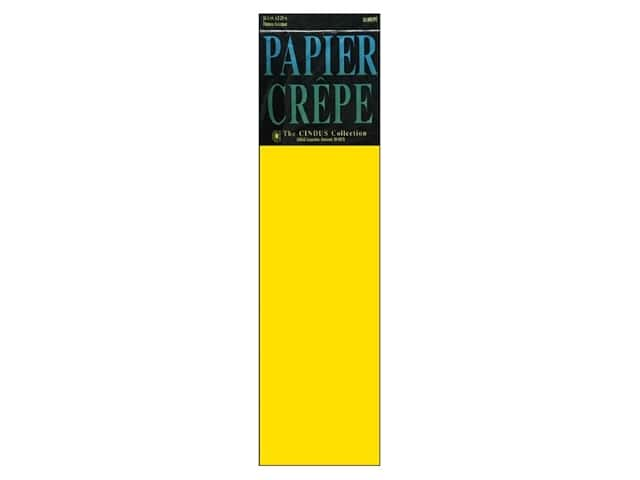 Crepe Paper Folds by Cindus 20 in. x 7 1/2 ft. Canary Yellow