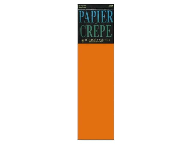 Crepe Paper Folds by Cindus 20 in. x 7 1/2 ft. Bright Orange