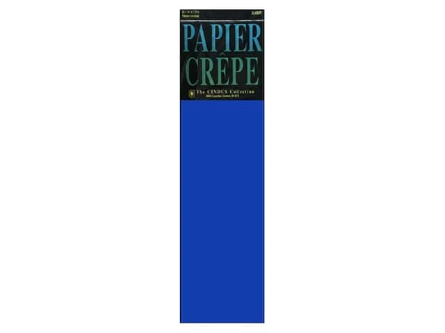 Crepe Paper Folds by Cindus 20 in. x 7 1/2 ft. Royal Blue