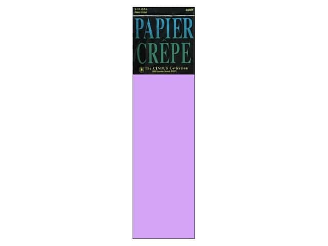 Crepe Paper Folds by Cindus 20 in. x 7 1/2 ft. Lavender