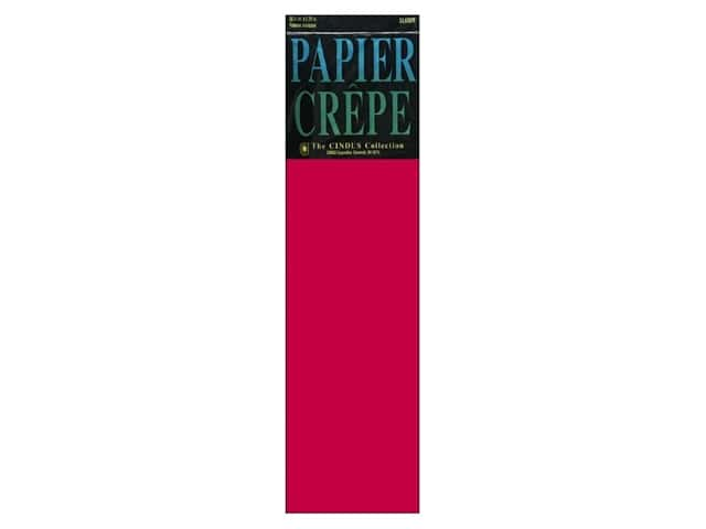 Crepe Paper Folds by Cindus 20 in. x 7 1/2 ft. Flame Red