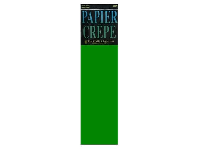 Crepe Paper Folds by Cindus 20 in. x 7 1/2 ft. Emerald Green