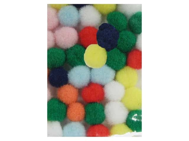 PA Essentials Pom Poms 1/8 in. Multi 40 pc.