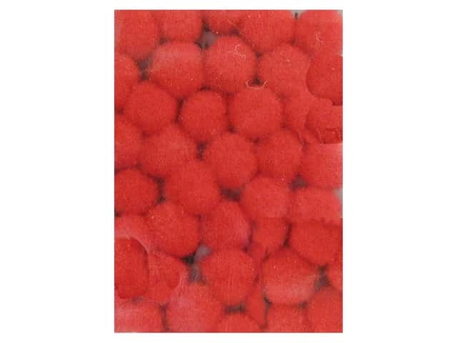 PA Essentials Pom Poms 1/8 in. Red 40 pc.