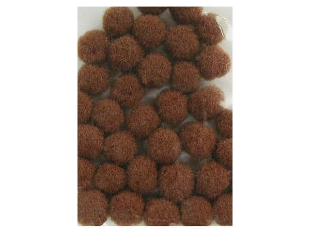 Pom Pom by Accent Design 1/8 in. Brown 40pc. (3 packages)