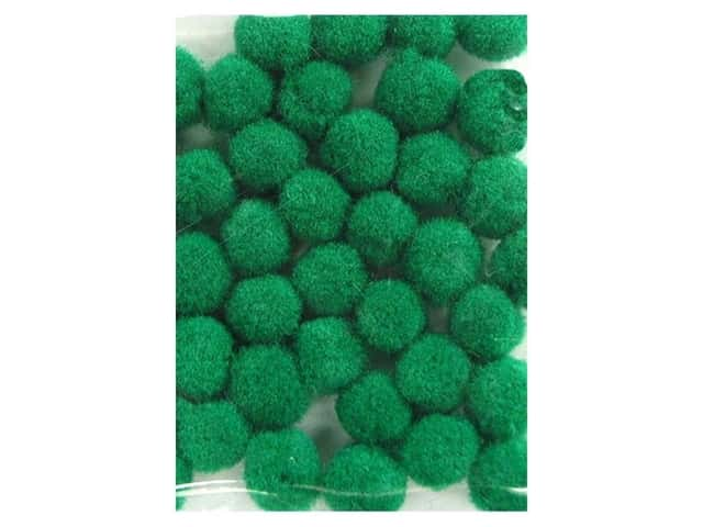 PA Essentials Pom Poms 3/16 in. Green 40 pc.