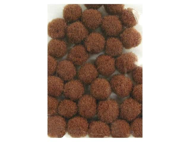 PA Essentials Pom Poms 3/16 in. Brown 40 pc.
