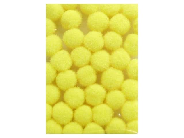 Pom Pom by Accent Design 3/16 in.Yellow 40pc.