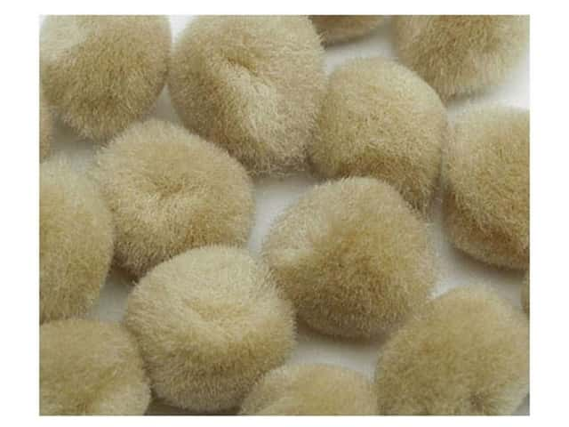 PA Essentials Pom Poms 3/8 in. Beige 16 pc.
