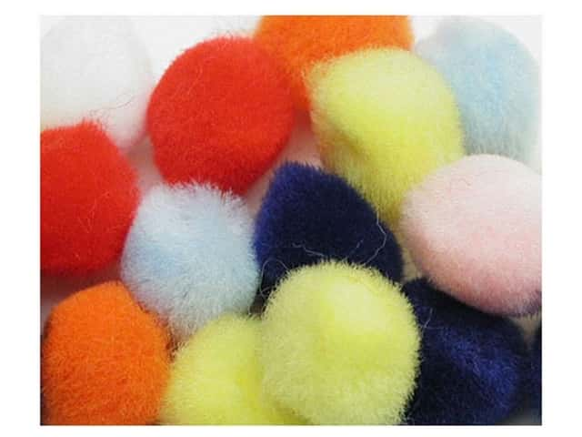 PA Essentials Pom Poms 3/4 in. Multi 12 pc.