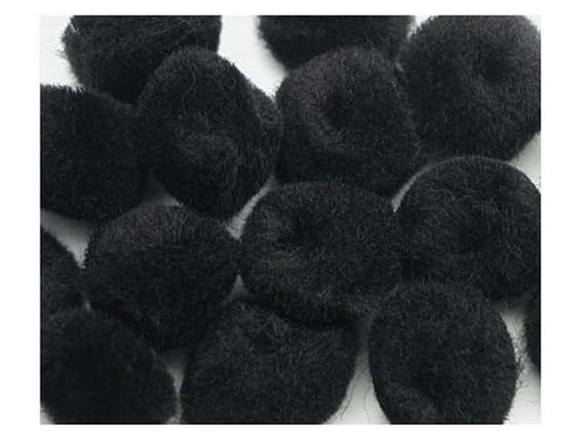 PA Essentials Pom Poms 3/4 in. Black 12 pc.