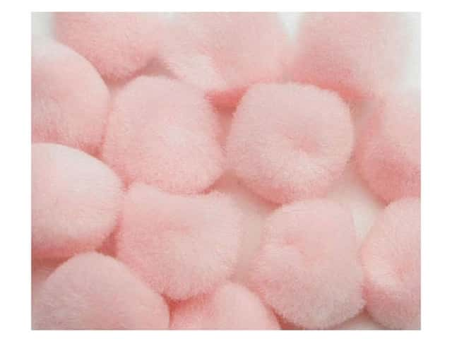 Pom Poms by Accent Design 3/4 in. Pink 12 pc.