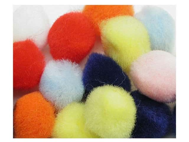 PA Essentials Pom Poms 3/4 in. Multi 100 pc.