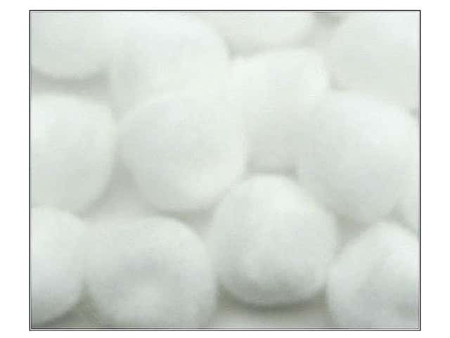 PA Essentials Pom Poms 1 in. White 100 pc.