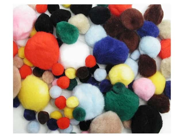Pom Pom by Accent Design Variety Pack Assorted 100pc.