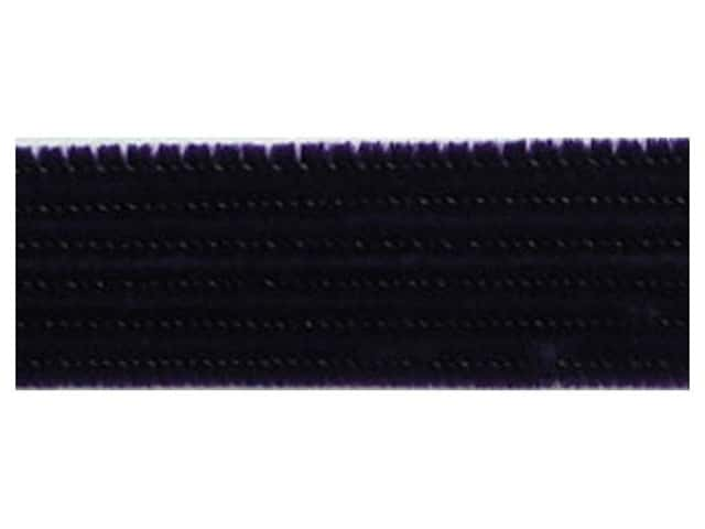 PA Essentials Chenille Stems 6 mm x 12 in. Black 25 pc.