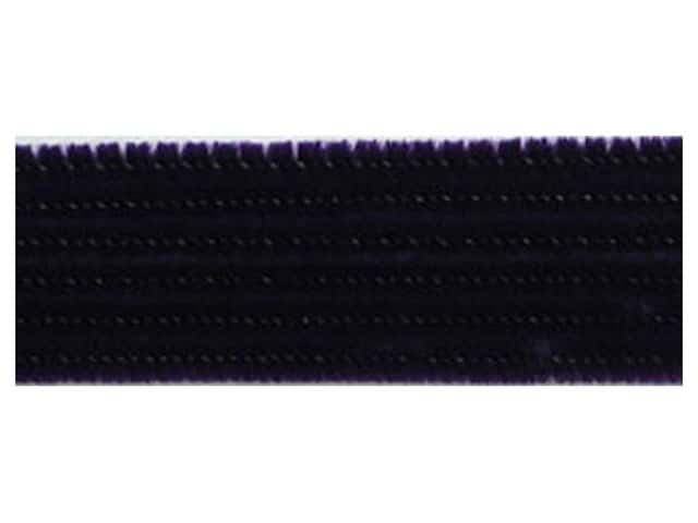 PA Essentials Chenille Stems 6 mm x 12 in. Black 100 pc.