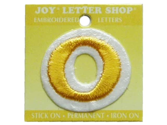 "Joy Lettershop Iron-On Number ""0"" Embroidered 1 1/2 in. Gold"