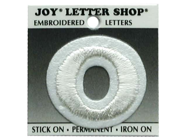 "Joy Lettershop Iron-On Number  ""0"" Embroidered 1 1/2 in. White"