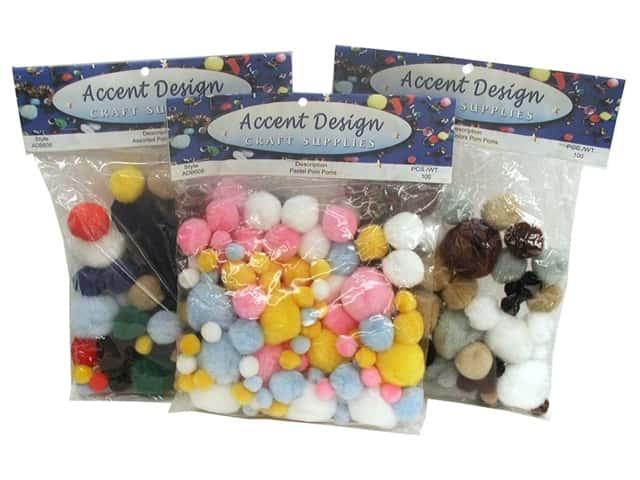 Pom Pom by Accent Design Variety Pack 100pc.