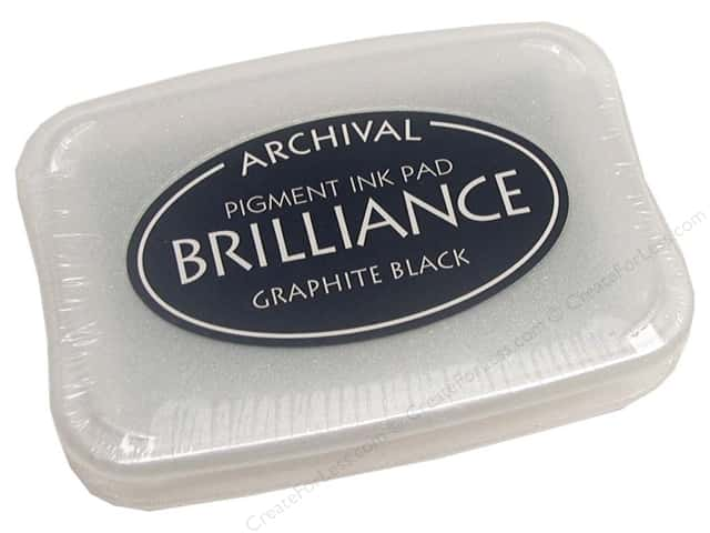 Tsukineko Brilliance Large Craft Stamp Pad Graphite Black