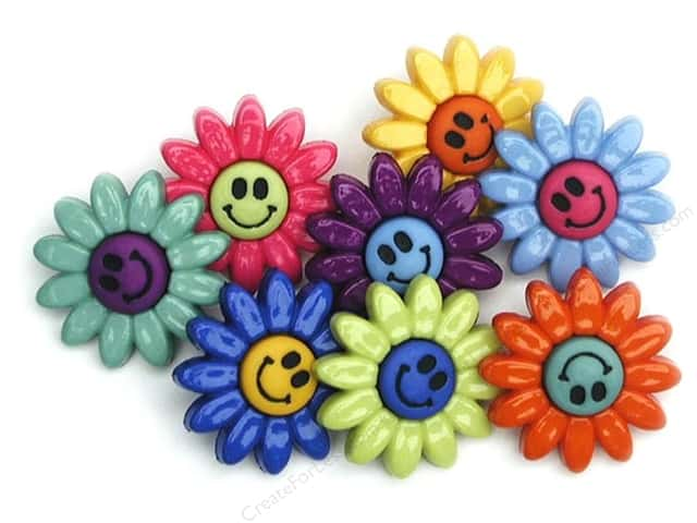 Jesse James Dress It Up Embellishments Button Fun Daisies