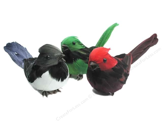 Accent Design Artificial Bird 5 1/2 in. Robin Assorted Color Feather 1 pc.