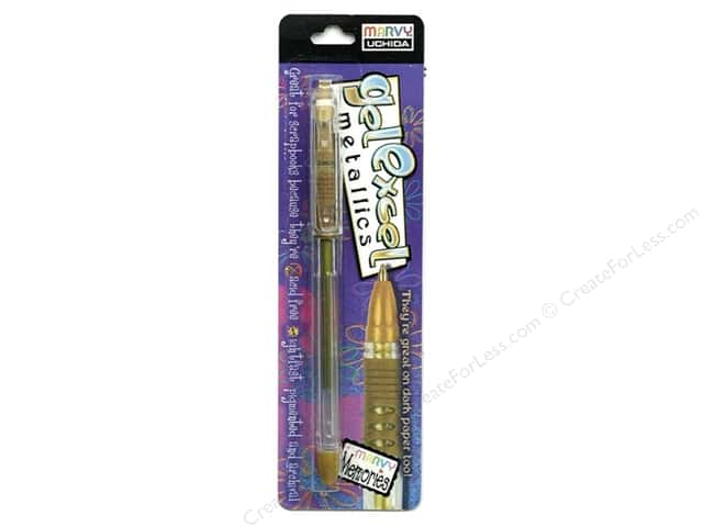 Uchida Gel Excel Pen Carded Metallic Gold