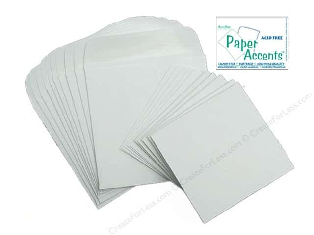 2 1/2 x 2 1/2 in. Blank Card & Envelopes by Paper Accents 10 pc. White