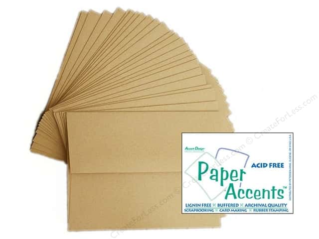 5 x 7 in. Envelopes by Paper Accents 25 pc. Kraft - 30% Recycled paper.